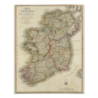 Carte de l'Irlande Posters