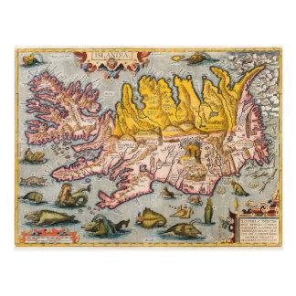 Carte de l'Islande Carte Postale