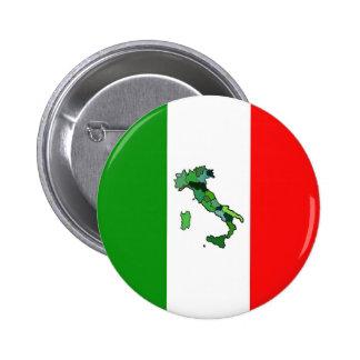 Carte de l'Italie et du drapeau italien Badges Avec Agrafe