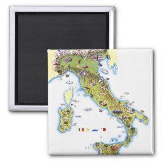 Carte de l'Italie Aimants Pour Réfrigérateur