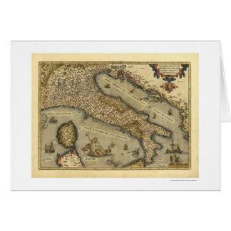 Carte de l'Italie par Ortelius 1570