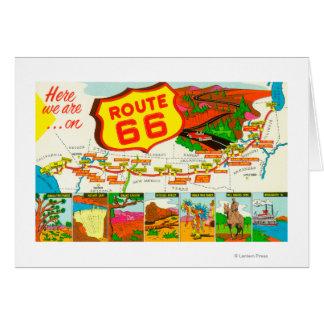 Carte de l'itinéraire 66 de Los Angeles vers