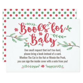 Carte de livre - baby shower d'hiver