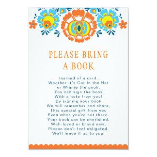 Carte de livre de fiesta carton d'invitation 8,89 cm x 12,70 cm