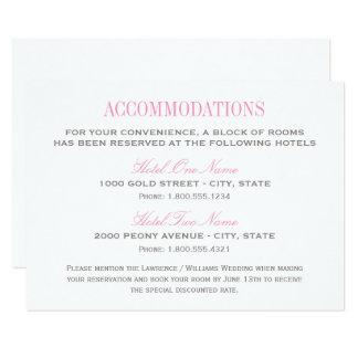 Carte   de logement de mariage rose et gris