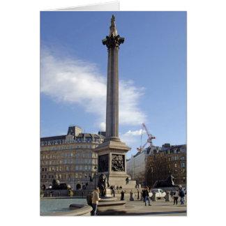 Carte de Londres de la colonne du Nelson