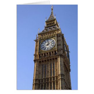 Carte de Londres de tour d'horloge de Big Ben
