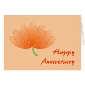 Carte de Lotus de Japonais d'anniversaire -