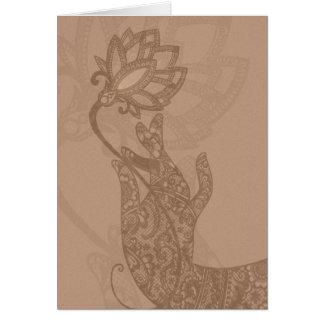 Carte de Lotus Mudra Mehndi (blanc pour toute