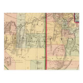 Carte de l'Utah, Nevada par Mitchell Cartes Postales