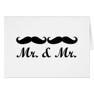 CARTE DE M. ET DE MARIAGE DE M. MUSTACHE GAY
