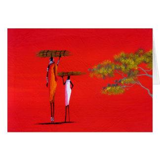 Carte de Maasai (masai Mara, Kenya) ; Rouge de