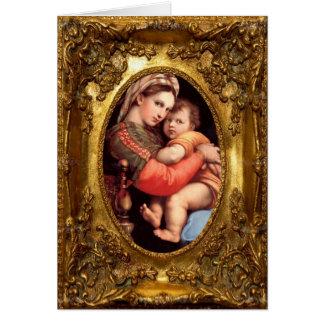 Carte de Madonna et d'enfant