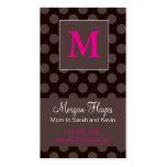 Carte de maman de chocolat carte de visite standard