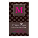 Carte de maman de chocolat modèle de carte de visite