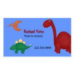Carte de maman de dinosaures d'amusement cartes de visite professionnelles
