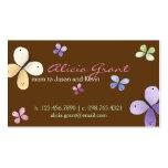 Carte de maman de papillon carte de visite standard
