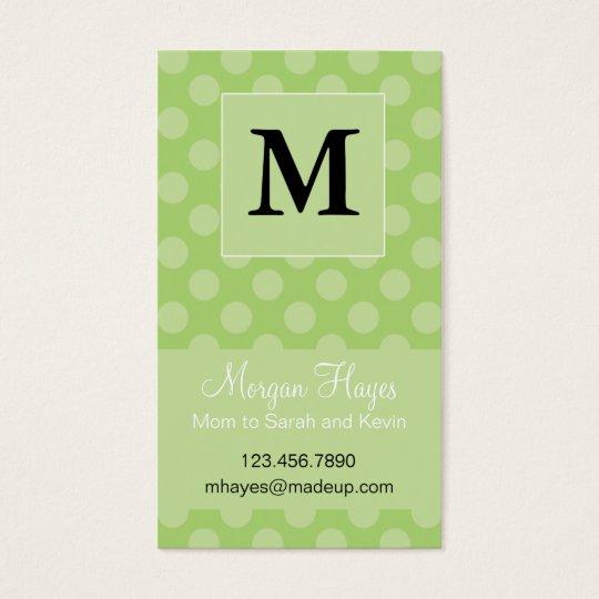 Carte de maman de polka de chaux