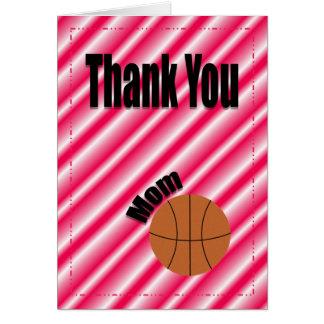 Carte de maman d'équipe de basket de Merci