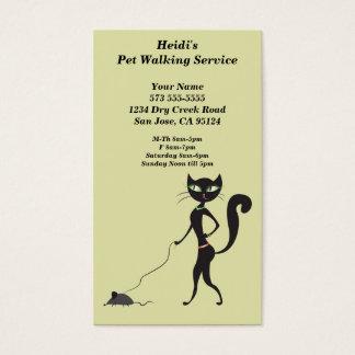 Carte de marche d'entreprise de services d'animal