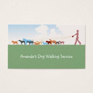 Carte de marche d'entreprise de services de chien