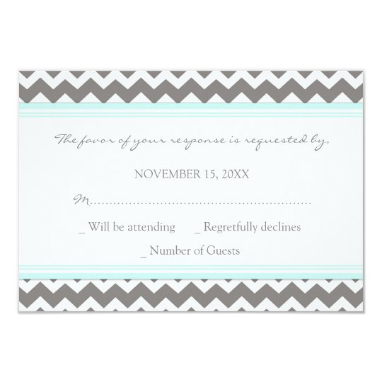carte de mariage bleue grise de chevron rsvp. Black Bedroom Furniture Sets. Home Design Ideas