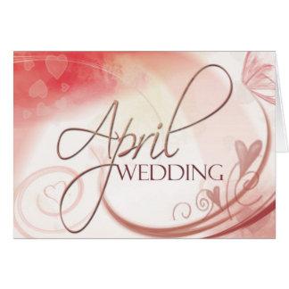 Carte de mariage d'avril