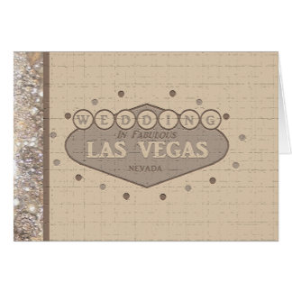 Carte de mariage de Las Vegas