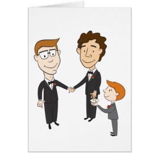Carte de mariage gaie
