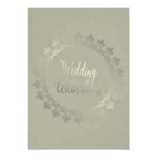 Carte de mariage grise chique carton d'invitation  12,7 cm x 17,78 cm