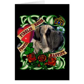 Carte de mastiff de tatouage