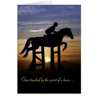 Carte de mémorial de sympathie de cheval de