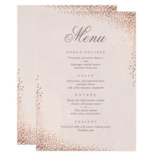 Carte de menu de dîner d'aluminium de faux de
