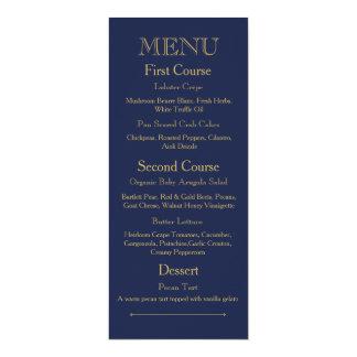 Carte de menu de dîner de mariage avec le ton