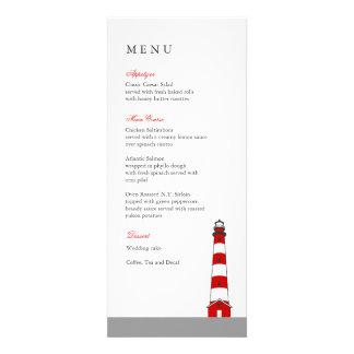 Carte de menu de mariage de phare cartons d'invitation personnalisés