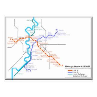 Carte de métro de Roma Carte Postale