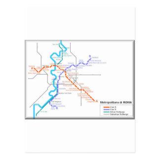 Carte de métro de Roma Cartes Postales