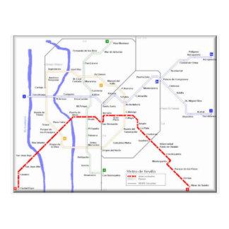 Carte de métro de Séville Cartes Postales