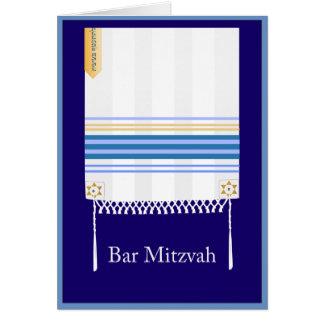 "Carte de Mitzvah de barre de ""Tallit"""