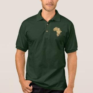 Carte de mode patriotique de l'AFRIQUE Polo