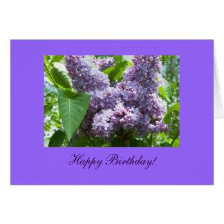 Carte de modèle photo de fleur d'anniversaire de