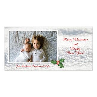 Carte de modèle photo de neige de Joyeux Noël Photocarte