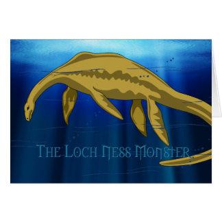 Carte de monstre de Loch Ness