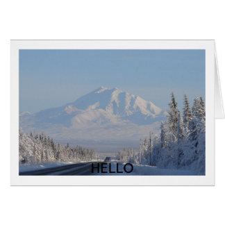 Carte de montagne bonjour