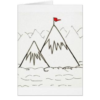 Carte de montagnes