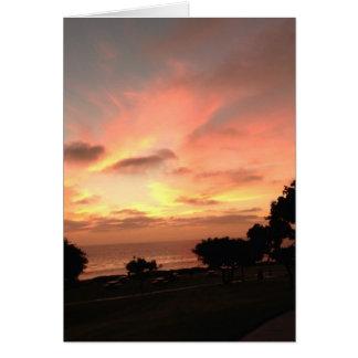 Carte de motivation de coucher du soleil