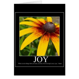 Carte de motivation de fleur de Rumi de joie