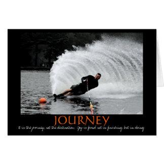 Carte de motivation de ski nautique (B&W teintés)