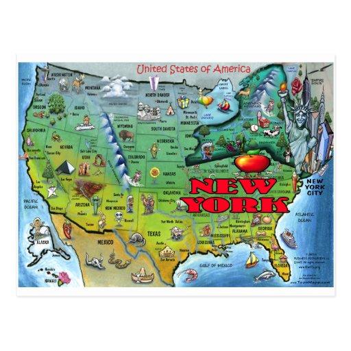New york etats unis cartes postales