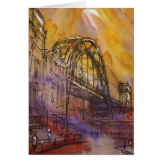 Carte de Newcastle de pont de Tyne